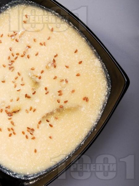 Млечна супа с целина, гъби печурки - снимка на рецептата